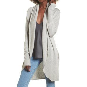 Leith Dolman Sleeve Open Front Cardigan Gray NWT